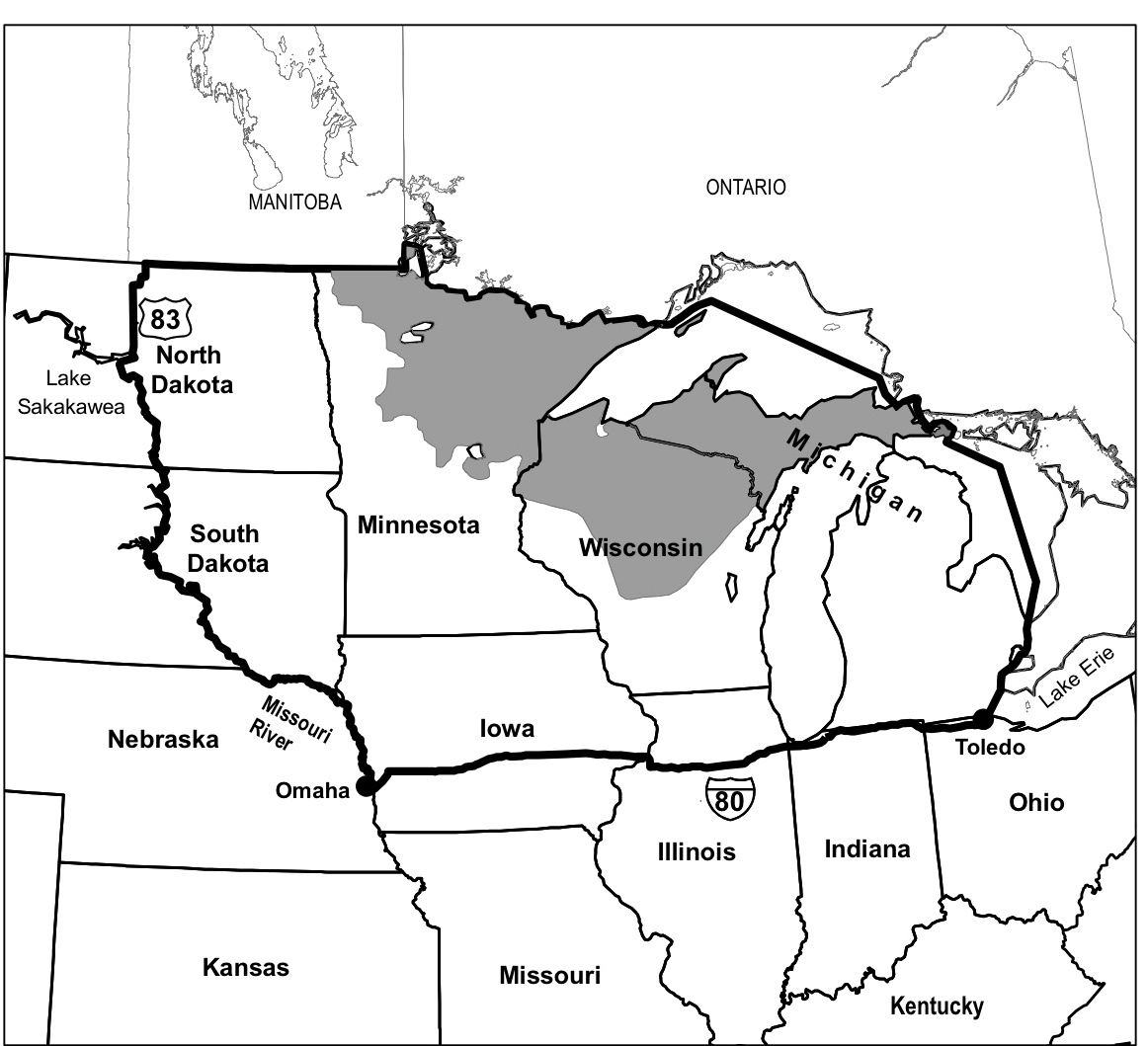 International Wolf Center Blog Archive Minnesota - Maps of the location of wolves in the us