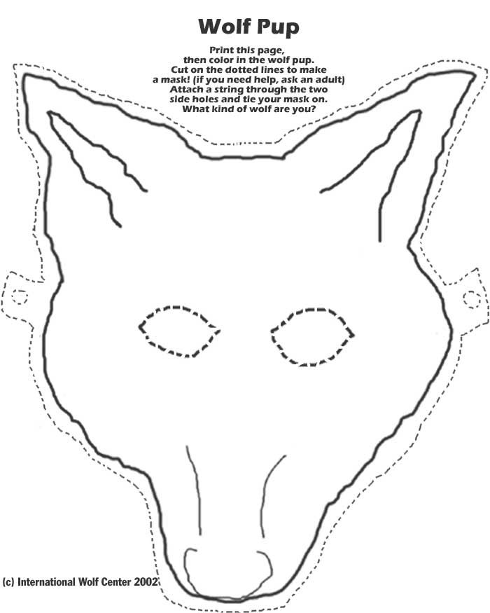 photograph regarding Printable Wolf Masks named Wolf Mask Worldwide Wolf Centre