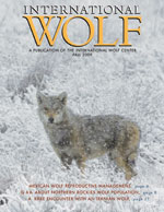 International Wolf Magazine - Fall 2009
