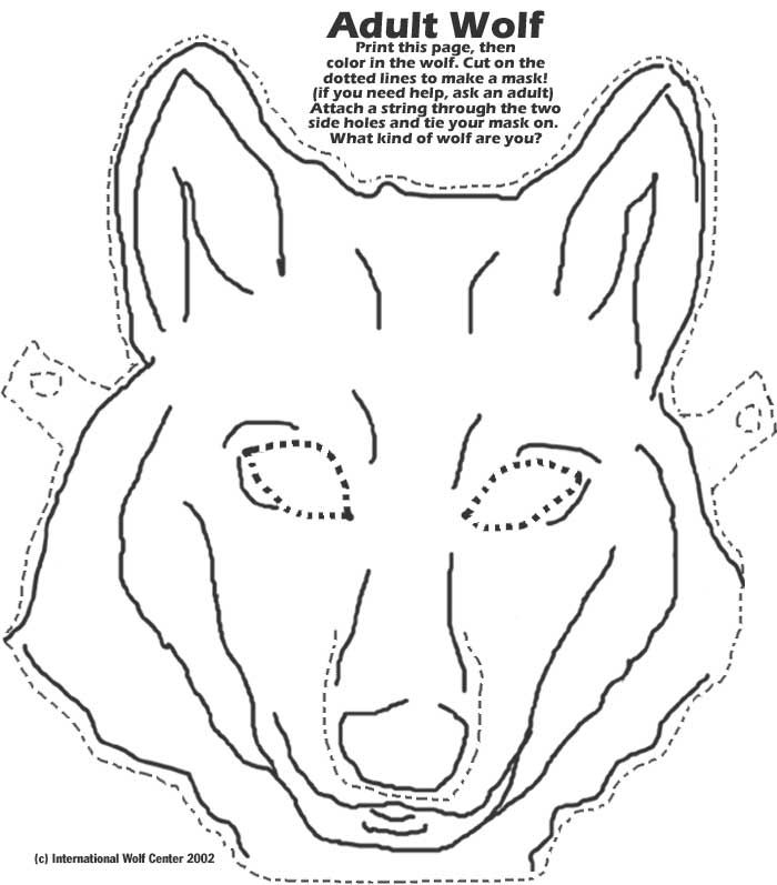 picture about Printable Wolf Mask Template for Kids named Wolf Mask World wide Wolf Centre